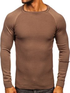 Brązowy sweter męski Denley 1009