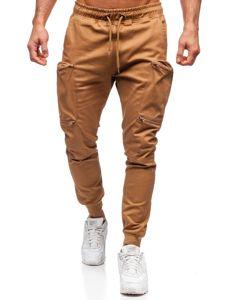 Camelowe spodnie joggery bojówki męskie Bolf 0475