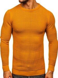 Camelowy sweter męski Denley 4608