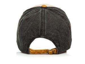 Czapka z daszkiem camelowo-czarna Denley CZ46
