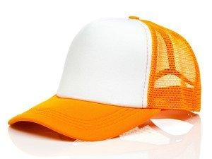 Czapka z daszkiem trucker pomarańczowa Denley CZ35