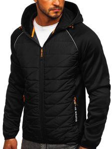 Czarna przejściowa kurtka męska Denley KS2145