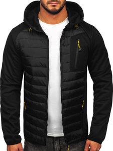 Czarna przejściowa kurtka męska Denley KS2150