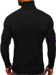 Czarny golf sweter męski bez nadruku Denley YY02