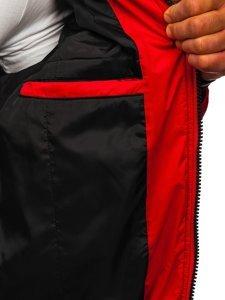 Czerwona przejściowa kurtka męska bomberka Denley 6523