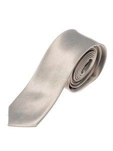 Elegancki krawat męski szary Denley K001
