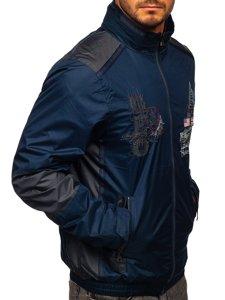 Granatowa kurtka męska przejściowa Denley 743