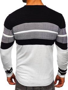 Gruby biały sweter męski Denley 1058