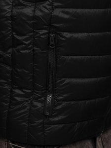 Kamizelka męska pikowana bez kaptura czarna Denley LY32