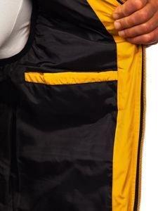 Kamizelka męska z kapturem żółta Denley 5805