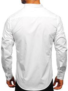 Koszula męska z długim rękawem biała Bolf 5702