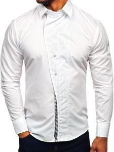 Koszula męska z długim rękawem biała Bolf 5746-A