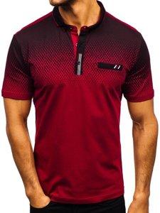 Koszulka polo męska bordowa Denley 6599