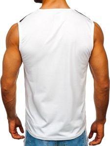 Koszulka tank top z nadrukiem biała Denley 100750