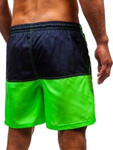 Krótkie spodenki kąpielowe męskie zielone Denley 310