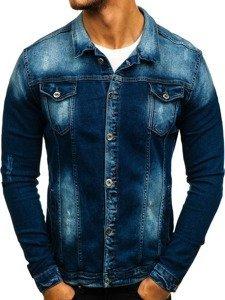 Kurtka jeansowa męska granatowa Denley 2050