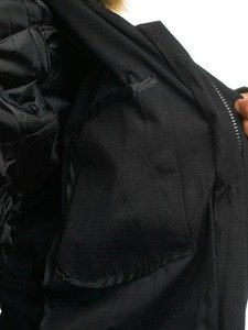 Kurtka męska parka 2w1 czarna Denley B3550