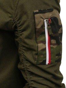 Kurtka męska przejściowa bomberka zielona Denley 0830