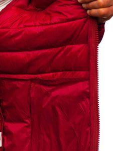Kurtka męska przejściowa pikowana bordowa Denley 1119