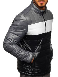 Kurtka męska przejściowa pikowana czarna Denley 6111