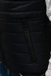 Kurtka męska przejściowa sportowa czarna Denley AK53