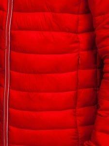 Kurtka męska przejściowa sportowa czerwona Denley LY1017