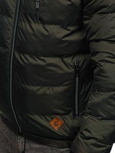 Kurtka męska przejściowa sportowa pikowana khaki Denley 50A199