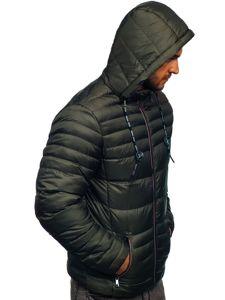 Kurtka męska przejściowa sportowa pikowana khaki Denley 50A215