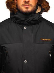 Kurtka męska zimowa alaska czarna Denley 40014