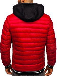 Kurtka męska zimowa czerwona Denley 5331