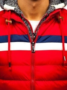 Kurtka męska zimowa czerwona Denley A181