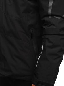 Kurtka męska zimowa narciarska czarna Denley 5941
