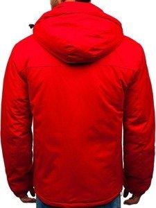 Kurtka męska zimowa narciarska czerwona Denley HZ8107