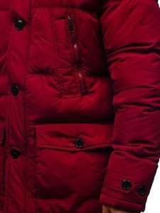 Kurtka męska zimowa parka bordowa Denley R110