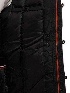 Kurtka męska zimowa parka czarna Denley 5312