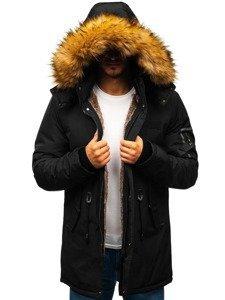 Kurtka męska zimowa parka czarna Denley 5313