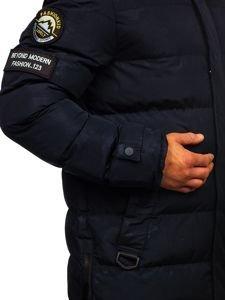 Kurtka męska zimowa parka granatowa Denley 5972