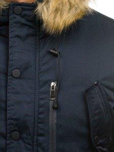 Kurtka męska zimowa parka granatowa Denley R62