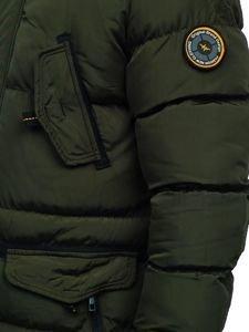 Kurtka męska zimowa parka khaki Denley 5837