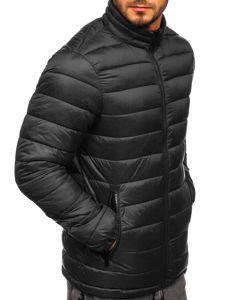 Kurtka męska zimowa pikowana czarna Denley 1119