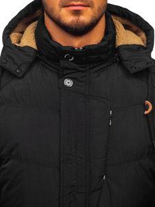 Kurtka męska zimowa pikowana czarna Denley 1664