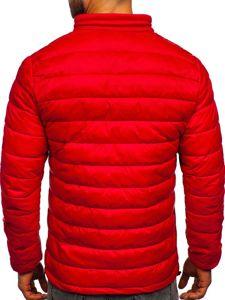 Kurtka męska zimowa pikowana czerwona Denley 1119