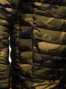 Kurtka męska zimowa sportowa moro-zielona Denley SM32