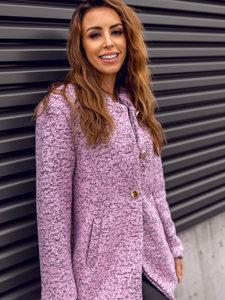 Płaszcz damski różowy Denley 6011-1