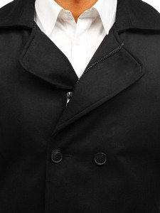 Płaszcz zimowy męski krótki czarny Denley 3130