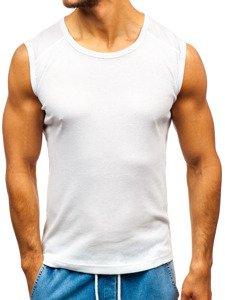 Podkoszulek męski bez nadruku biały Denley C3066