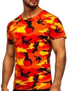 Pomarańczowy t-shirt męski moro Denley S807
