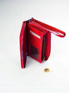 Portfel damski skórzany czerwony 1209