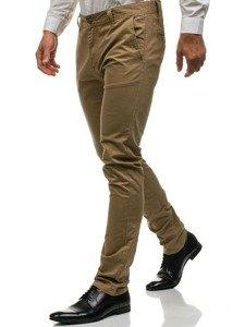 Spodnie chinosy męskie beżowe Denley 6807