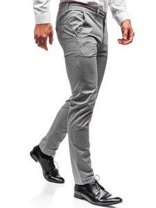 Spodnie chinosy męskie szare Denley 2901